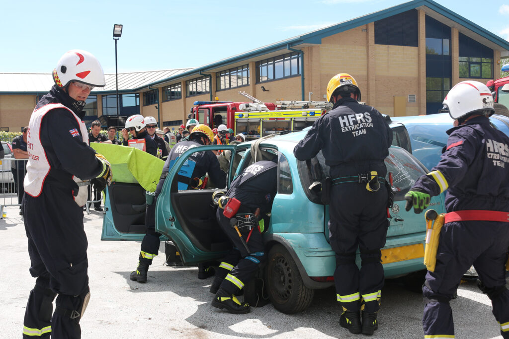 Photo of the extrication challenge