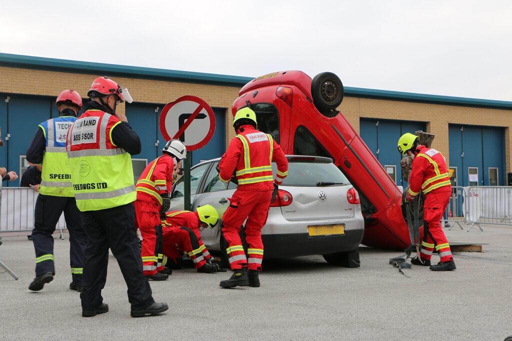 Photo of extrication challenge
