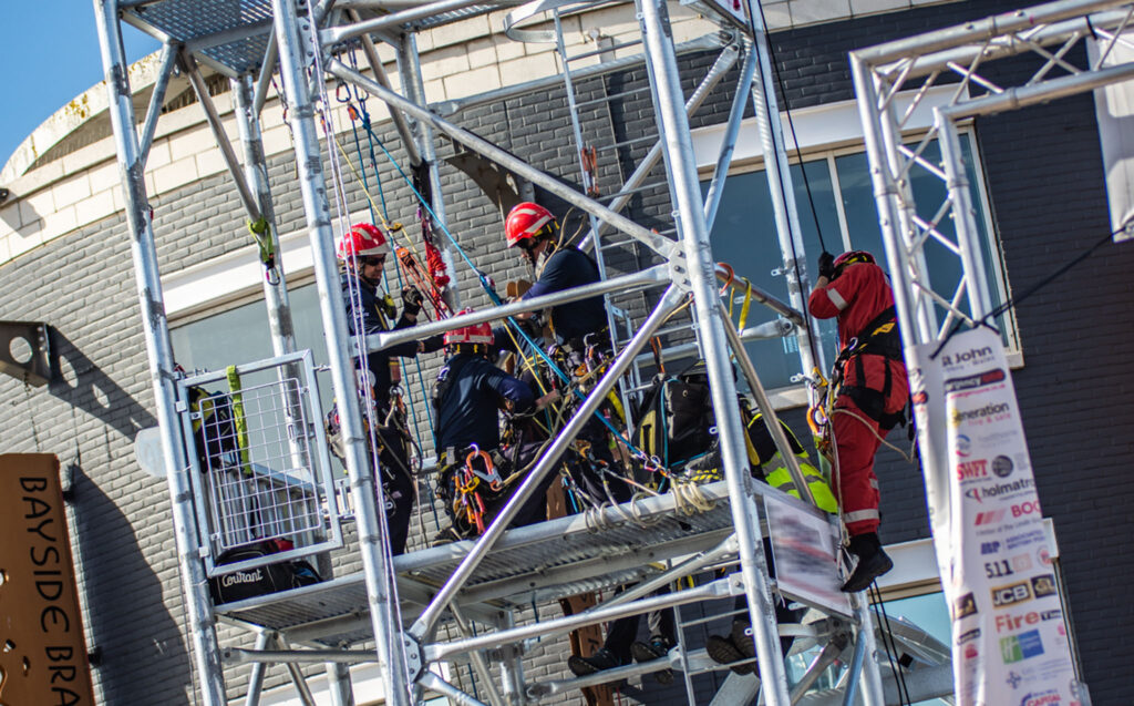 Photo of rope rescue challenge