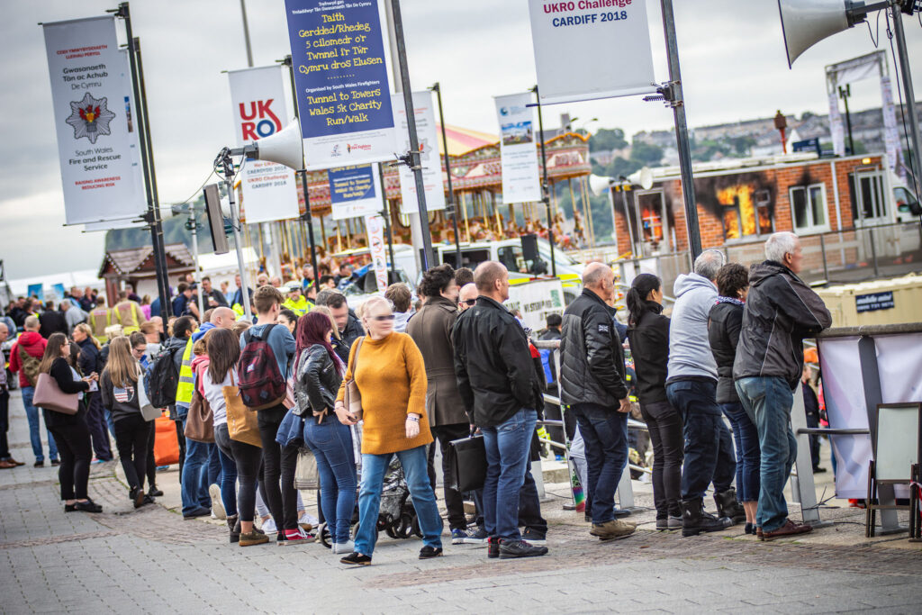 Photo of a crowd at a UKRO National Rescue Challenge