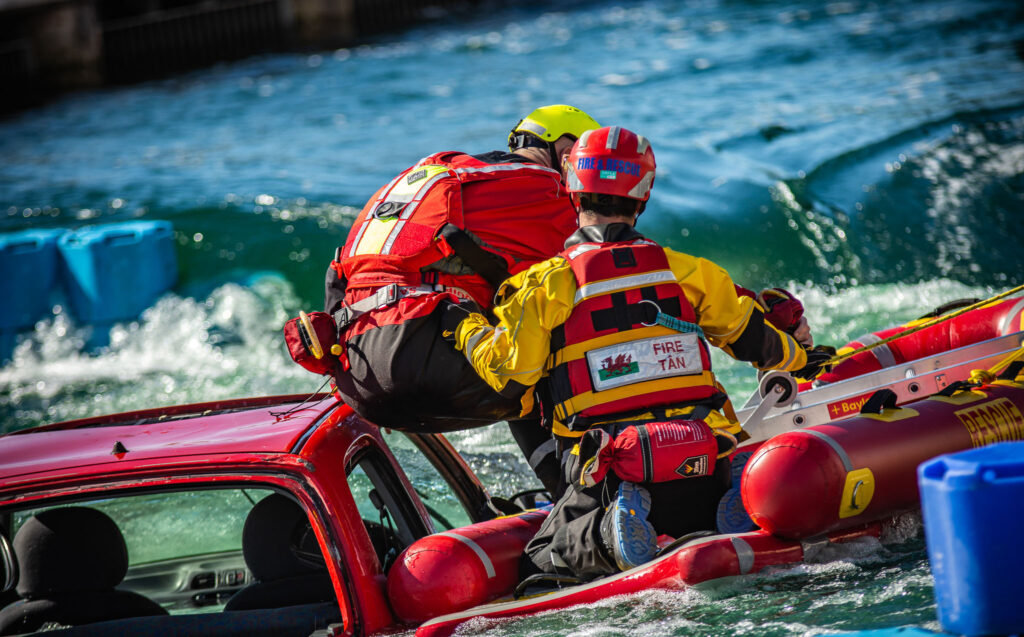 Photo of water rescue challenge